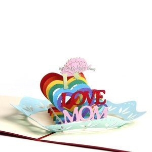 I LOVE MOM Pop Up Mother's Day Card